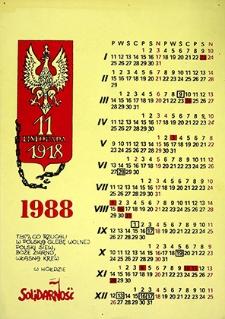 Kalendarz : 11 listopada 1918; 1988