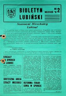 Biuletyn Lubiński : nr 2, wrzesień `91