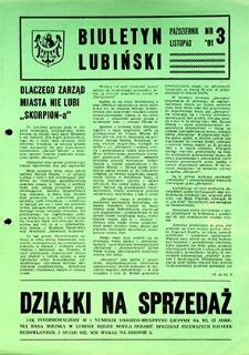 Biuletyn Lubiński : nr 3, październik `91