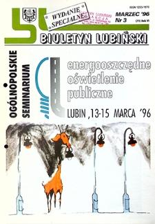 Biuletyn Lubiński : nr 3 (71), marzec `96 wydanie specjalne