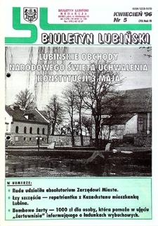 Biuletyn Lubiński : nr 5 (73), kwiecień `96