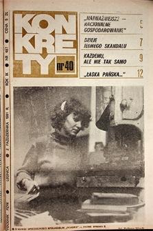 Konkrety : nr 40 (487), październik `81