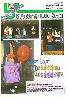 Biuletyn Lubiński : nr 11 (79), wrzesień `96 wydanie specjalne