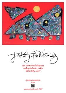 Jan Kanty Pawluśkiewicz maluje żel-art z cyklu Sensy Byty Mary