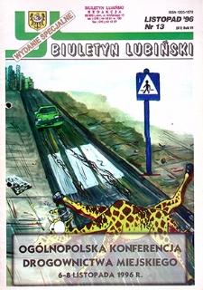Biuletyn Lubiński : nr 13 (81), listopad `96 wydanie specjalne