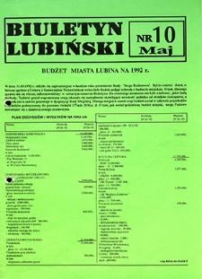 Biuletyn Lubiński : nr 10, maj `92