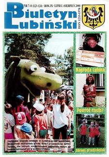 Biuletyn Lubiński : nr 7 (123), 8 (124), lipiec, sierpień 2000