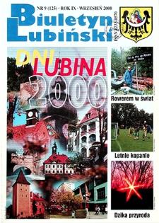 Biuletyn Lubiński : nr 9 (125), wrzesień 2000