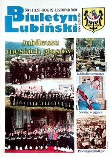 Biuletyn Lubiński : nr 11 (127), listopad 2000