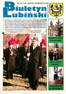 Biuletyn Lubiński : nr 12 (128), grudzień 2000