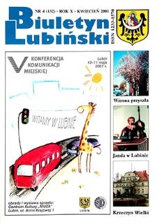 Biuletyn Lubiński : nr 4 (132), kwiecień 2001