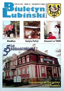 Biuletyn Lubiński : nr 8 (136), sierpień 2001