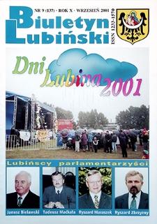 Biuletyn Lubiński : nr 9 (137), wrzesień 2001