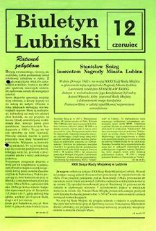 Biuletyn Lubiński : nr 12, czerwiec `92