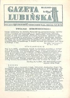 Gazeta Lubińska : nr 12, 13, grudzień `87