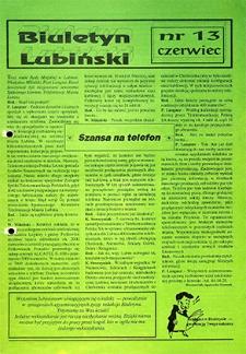 Biuletyn Lubiński : nr 13, czerwiec `92
