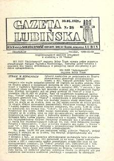 Gazeta Lubińska : nr 28, maj `89