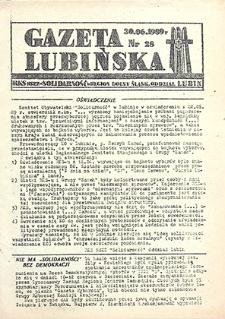 Gazeta Lubińska : nr 28, czerwiec `89