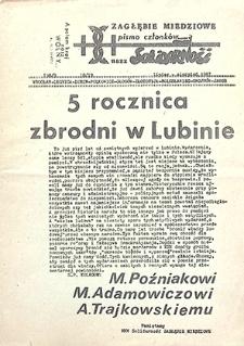 Zagłębie Miedziowe Pismo Członków NSZZ Solidarność : nr 138/9, 18/19, lipiec, sierpień `87