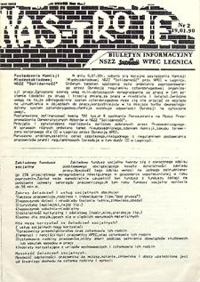 Biuletyn Informacyjny NSZZ Solidarność WPEC Legnica : nr 2, styczeń `90