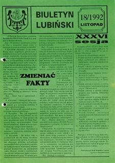 Biuletyn Lubiński : nr 18, listopad `92