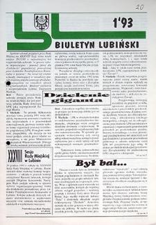 Biuletyn Lubiński : nr 1, styczeń `93