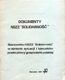 """Dokumenty NSZZ """"Solidarność"""" `87"""