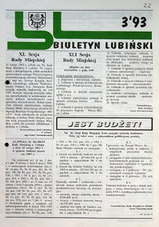 Biuletyn Lubiński : nr 3, `93