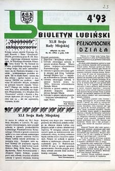Biuletyn Lubiński : nr 4, `93