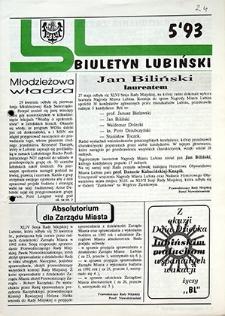 Biuletyn Lubiński : nr 5, `93