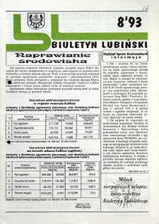 Biuletyn Lubiński : nr 8, `93