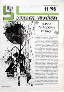 Biuletyn Lubiński : nr 11, `93