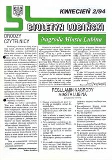 Biuletyn Lubiński : nr 2, kwiecień `94