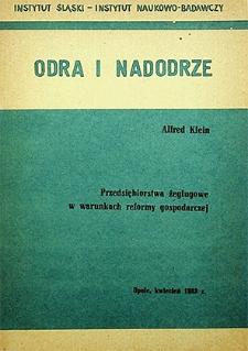 Odra i Nadodrze : kwiecień 1983. Przedsiębiorstwa żeglugowe w warunkach reformy gospodarczej