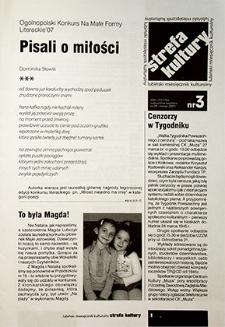 Strefa Kultury : nr 3 (29), marzec 2007