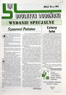 Biuletyn Lubiński : nr 5 (37), maj `94