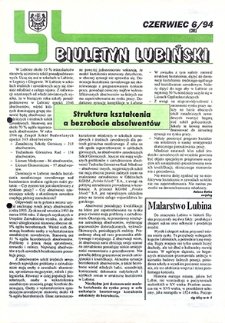 Biuletyn Lubiński : nr 6 (38), czerwiec `94