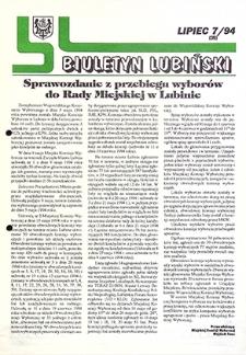 Biuletyn Lubiński : nr 7 (39), lipiec `94