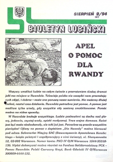 Biuletyn Lubiński : nr 9 (41), sierpień `94