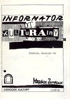 Informator Kulturalny : sierpień, wrzesień `92