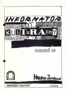 Informator Kulturalny : grudzień `92