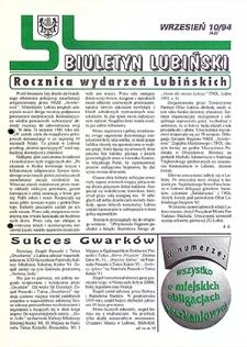 Biuletyn Lubiński : nr 10 (42), wrzesień `94