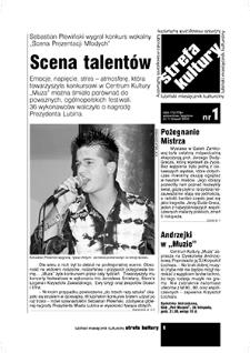 Strefa Kultury : nr 1, listopad 2004
