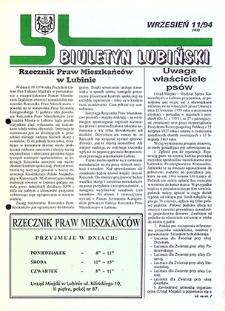 Biuletyn Lubiński : nr 11 (43), wrzesień `94