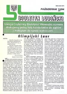 Biuletyn Lubiński : nr 12 (44), październik `94