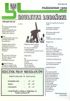 Biuletyn Lubiński : nr 13 (45), październik `94