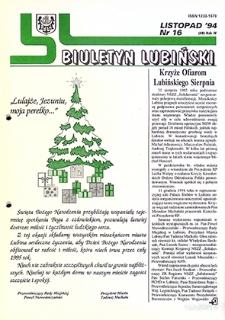 Biuletyn Lubiński : nr 16 (48), listopad `94