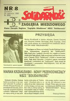 Solidarność Zagłębia Miedziowego : nr 8, czerwiec `92