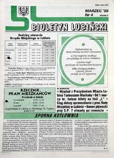 Biuletyn Lubiński : nr 4 (53), marzec `95