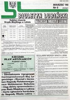 Biuletyn Lubiński : nr 5 (54), marzec `95